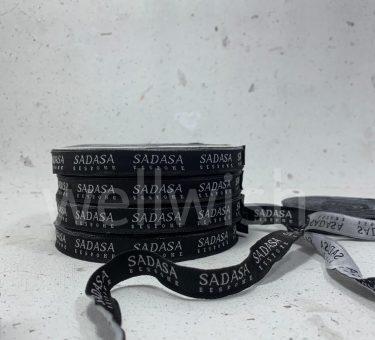 label woven hitam ukuran 1,3cm